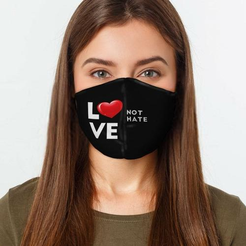 Love Not Hate Face Cover, Soft Cotton Face Mask - EtsySales
