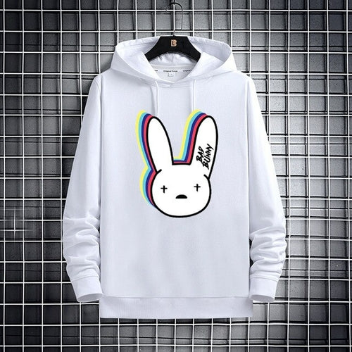 new Bad Bunny autumn / winter print women's long sleeve Hooded plus