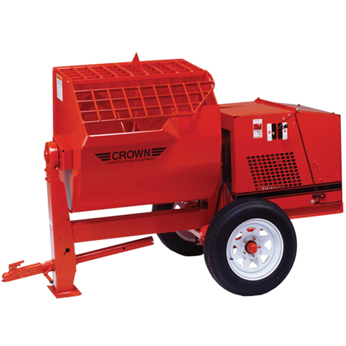Crown: Hydraulic 12SH Series - 12 Cubic Feet, Steel Drum, Highway Towable, Torsion Axle, Hydraulic Drive/Dump