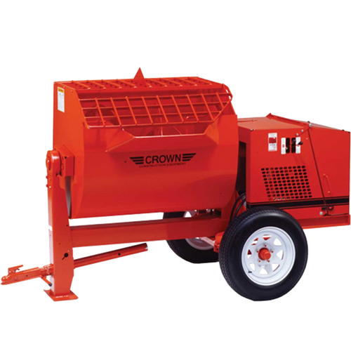 Crown: Hydraulic 16SH Series - 16 Cubic Feet, Steel Drum, Highway Towable, Torsion Axle, Hydraulic Drive/Dump