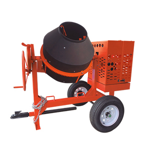 Crown: C9P Series - 9 Cubic Feet, Poly Drum, Torsion Axle, Highway Towable Concrete Mixer
