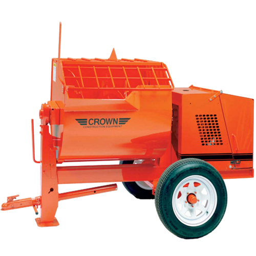 Crown: 12S Series - 12 Cubic Feet, Steel Drum, Highway Towable, Torsion Axle, Direct Gear Drive