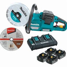 "Load image into Gallery viewer, Makita: 18V X2 (36V) LXT® Lithium‑Ion Brushless Cordless 9"" Power Cutter Kit, with AFT®, Electric Brake, 4 Batteries (5.0 Ah) XEC01PT1"