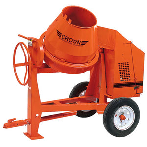 Crown: C6 Series - 6 Cubic Feet, Steel Drum, Highway Towable Concrete Mixer