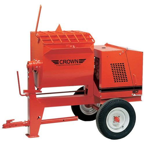 Crown: 6SR Series - Mortar Mixer, 6 Cubic Feet, Steel Drum, Highway Towable