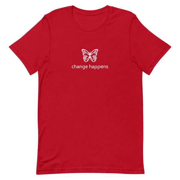 butterfly totem t-shirt, cute butterfly t-shirt, butterfly change happens t-shirt, animal totem design t-shirt