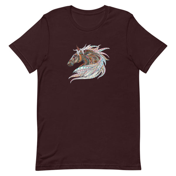 wild horse t-shirt, tribal horse t-shirt, tribal horse design, horse totem