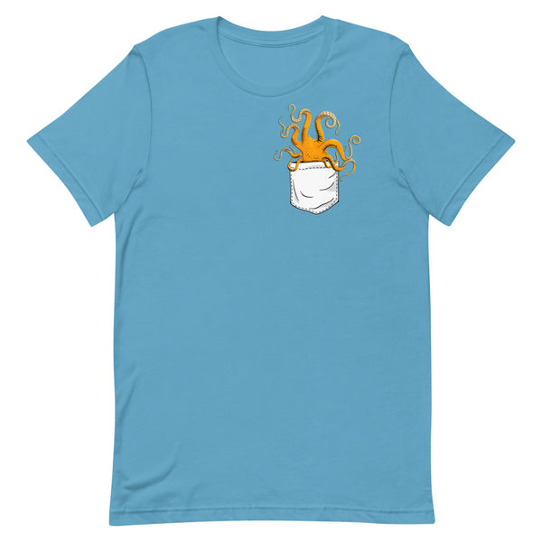 octopus t-shirt, pocket pet t-shirt, octopus pocket t-shirt, octopus totem t-shirt, octopus totem, octopus design t-shirt
