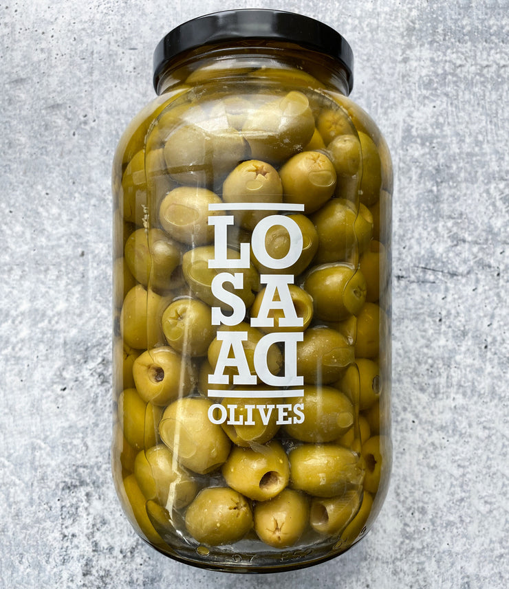 Foodservice Size of Coventional Gordal Olives Pitted 2000 gr