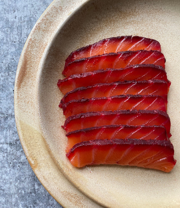 Best Pine Cone Smoked Salmon with Vodka and Beetroot, 5 oz. photos by Regalis Foods - item 1