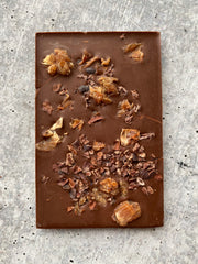Lychee Rose Dark Milk Chocolate Bar
