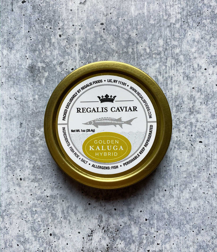 Large Grain Golden Kaluga Caviar (Farmed in China)
