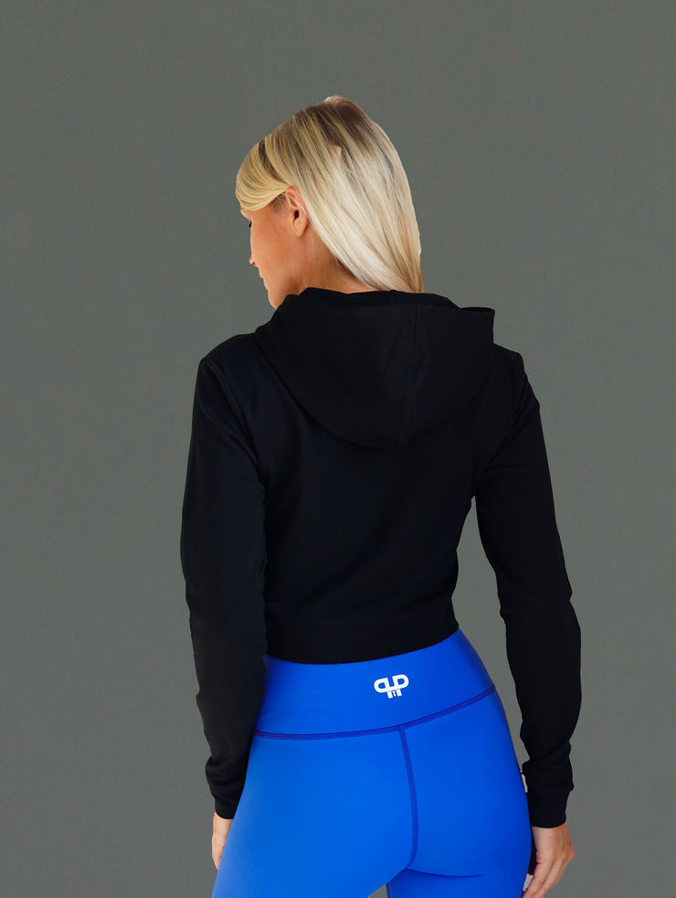Divine cropped hoodie-midnight - Intensiti