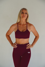 Ample sports bra-burgundy - Intensiti