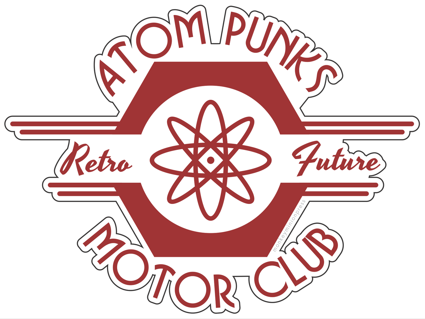 AtomPunks Retro Future Motor Club - Vinyl Sticker