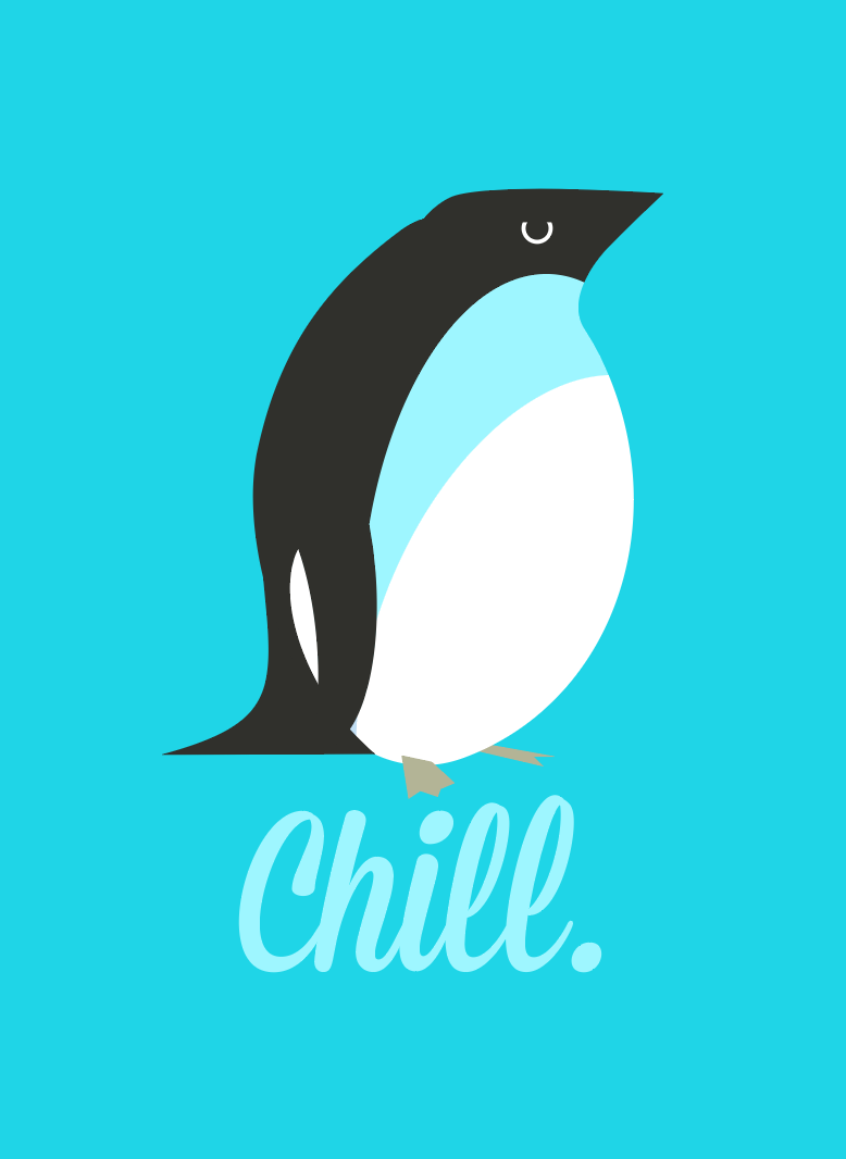 Chill Penguin 2x3 Magnet