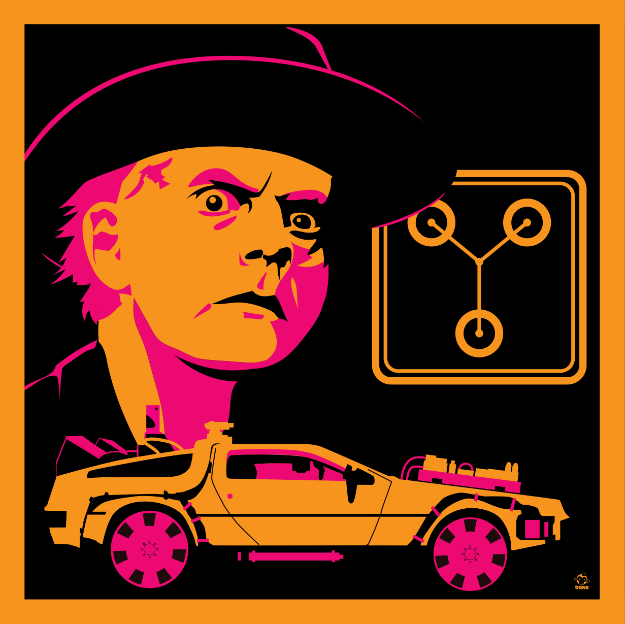 Great Scott 1885 - BTTF3 8x8 Giclee Art Print