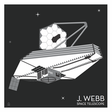 Load image into Gallery viewer, J Webb Space Telescope - 10x10 Giclee Print