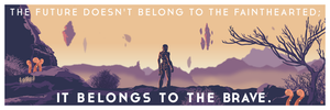 Golden Worlds Mass Effect 12x36 POPaganda print