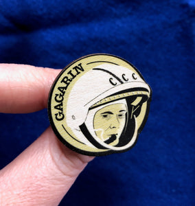 Astronaut of the Month Yuri Gagarin Wooden Magnet