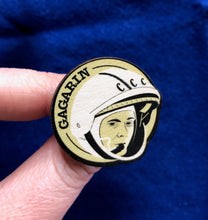 Load image into Gallery viewer, Astronaut of the Month Yuri Gagarin Wooden Pin