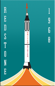 Redstone NASA Rocket 2x3 Magnet