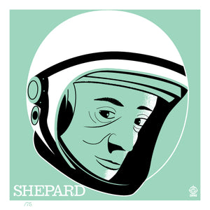 Astronaut of the Month Alan Shepard - 4x4 Limited Edition Print