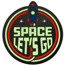 Load image into Gallery viewer, Space Let's Go Glow in the Dark Enamel Pin