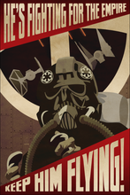 Load image into Gallery viewer, Keep Him Flying Empire Propaganda 12x18 Print