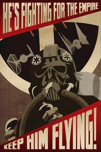 Keep Him Flying Empire Propaganda 12x18 Print