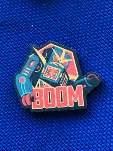 BOOM Robot Wood Pin