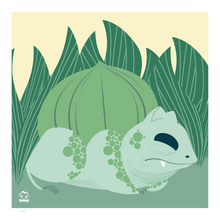 Load image into Gallery viewer, Bulbasaur 8x8 Mid-Century Modern Giclee Print