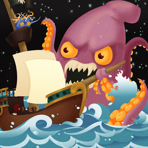 Captain Dan vs. The Kraken All Ages Picture Book