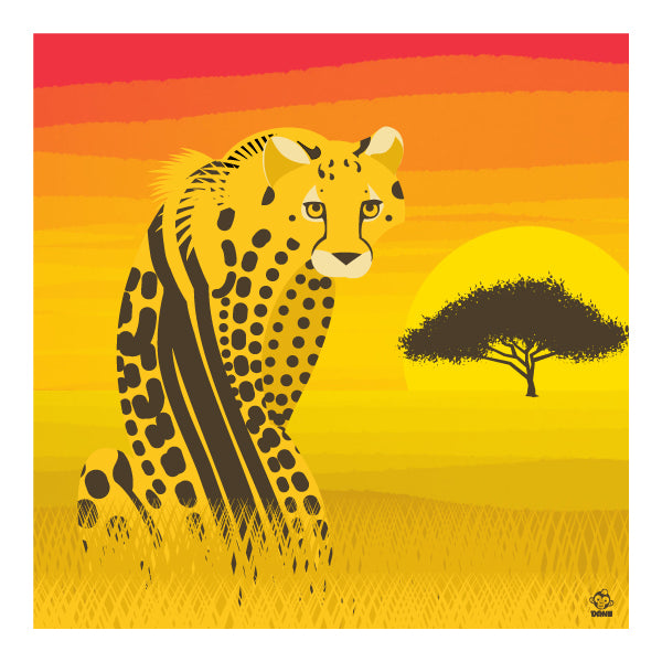 King Cheetah 10x10 Giclee Print
