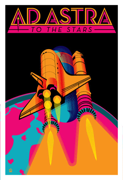 Ad Astra 80s Colors Variant Ltd Ed Print