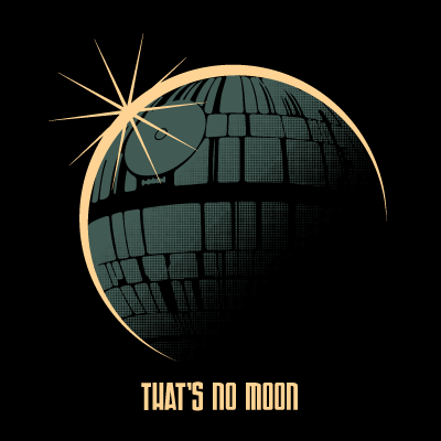 That's No Moon Eclipse 8X8 Art Print