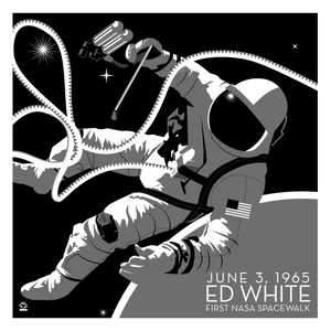 NASA Spacewalk Ed White - 10x10 Giclee Print