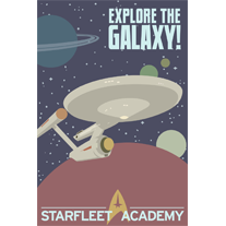 Load image into Gallery viewer, Explore The Galaxy Star Trek 12x18 Print