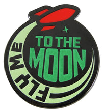 Load image into Gallery viewer, Fly Me To The Moon Glow in the Dark Enamel Pin