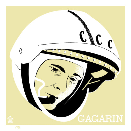 Astronaut of the Month Yuri Gagarin 4x4 Limited Edition art print