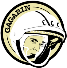 Load image into Gallery viewer, Astronaut of the Month Yuri Gagarin Wooden Magnet