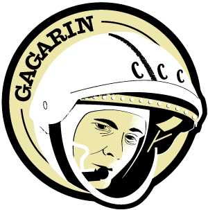 Astronaut of the Month Yuri Gagarin Wooden Pin