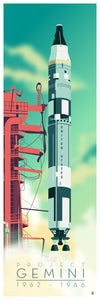 Project Gemini Space Rocket 12x36 POPaganda print