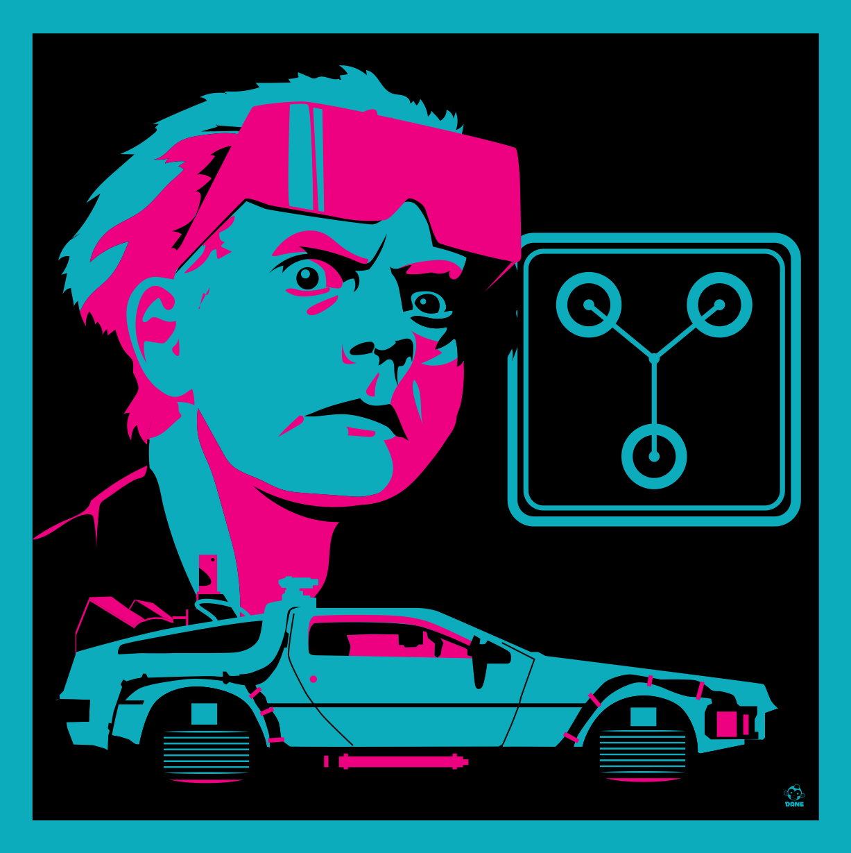 Great Scott 2015 - BTTF2 8x8 Giclee Art Print