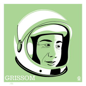 Astronaut of the Month Gus Grissom - 4x4 Limited Edition Print