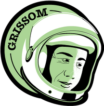 Load image into Gallery viewer, Astronaut of the Month Gus Grissom Wood Magnet