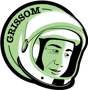 Astronaut of the Month Gus Grissom Wood Pin