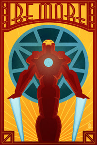 BE MORE Iron Man Avengers - 12x18 POPaganda Print