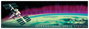 International Space Station Space Travel 12x36 POPaganda print