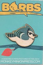 Load image into Gallery viewer, BORBS BlueJay Wooden Pin